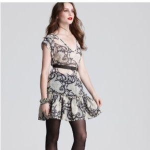 Joie 100% SILK Edwardian Tapestry Printed Dress